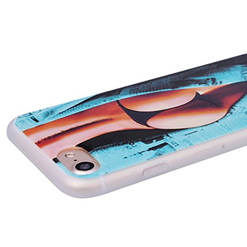 WE LOVE CASE Coque iPhone 7/ iPhone 8, Souple Gel Coque iPhone 7 Silicone Motif Fine Coque Girly Resistante, Coque de Protection Bumper Officielle Coque Apple iPhone 7 iPhone 8 Fleur D'Éléphant Fille