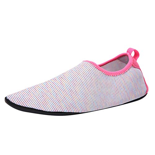 friendGG Damen Herren Wassersportschuhe Quick-Dry Aqua Beach Schuhe Yoga Socken Slip-On Sneaker Atmungsaktiv rutschfeste Mode Freizeitschuhe Wasserdicht Turnschuhe Leichte Outdoor Schuhe Wanderschuhe