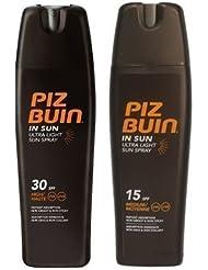 Piz Buin Lotion Solaire Sprays Ultra Clair Spf 15 Et SPF 30-200Ml Chaque
