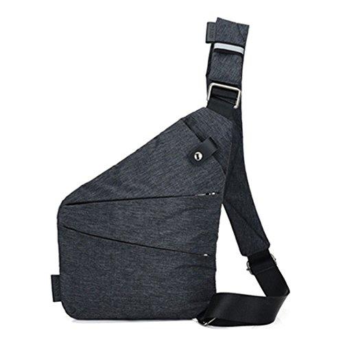 Herren Frauen Nylon leichte kleine Kreuz Brust Tasche Anti-Diebstahl Schulter Sling Bag Reise Outdoor Sport Tasche Recht