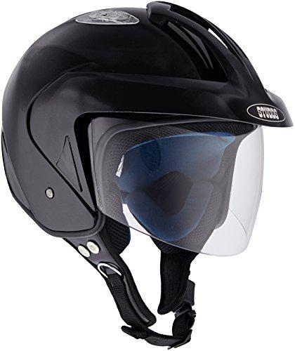 Studds KS-1 Metro Half Helmet (Black, L)
