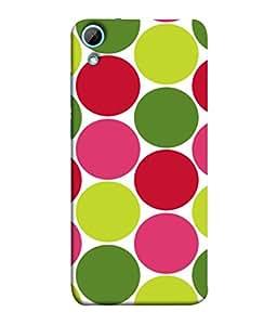 PrintVisa Retro Polka Colourful Dots 3D Hard Polycarbonate Designer Back Case Cover for HTC Desire 820 :: HTC Desire 820 Dual Sim :: HTC Desire 820S Dual Sim :: HTC Desire 820Q Dual Sim :: HTC Desire 820G+ Dual Sim