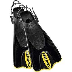 Cressi Palau Saf Palmes de plongée Noir/jaune Taille M/L - 41/44