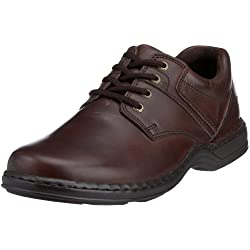 Hush Puppies - Zapatos de cordones de cuero para hombre, color marrón