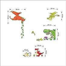 Vinilo adhesivo decorativo infantil dinosaurios colores para esquinas, puertas de armario, baños, habitaciones, estudios... de OPEN BUY