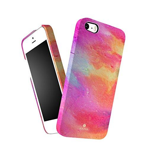 Custodia iPhone 5/5s/SE sottile, Akna Serie Ossessione Vintage Impatto elevato Custodia per iPhone 5/5s/SE [Abstract Water Color]