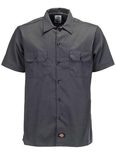 Dickies Herren Freizeithemd S/S Slim Shirt Charcoal Grey