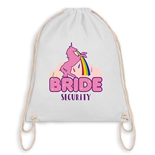 JGA Junggesellinnenabschied - JGA Bride Security Einhorn - Turnbeutel I Gym Bag Weiß