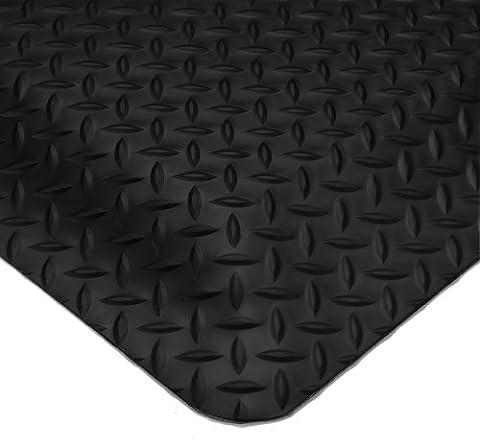 wearwell 497.58x 2x 3BK diamond-plate Smart Tapis anti-fatigue, résistance moyenne, 61cm x 91cm, noir