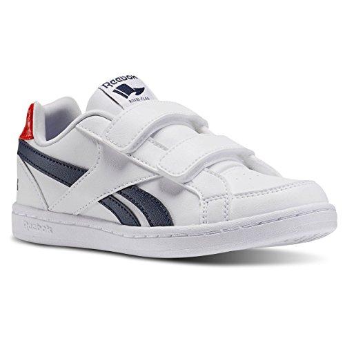 Reebok Unisex Baby Royal Prime Alt Sneaker Weiß / Blau / Rot (White/Navy/Motor Red)