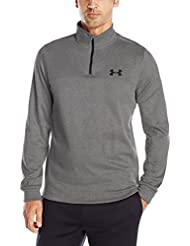Under Armour Fleece 1/4 Zip, Felpa Uomo, Grigio Carbone, M