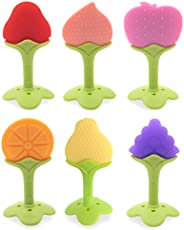 5 PCS Baby Teething Toys, Soft Fruit Teething Toys Set For Toddlers & Infants, Baby Teeth Stick