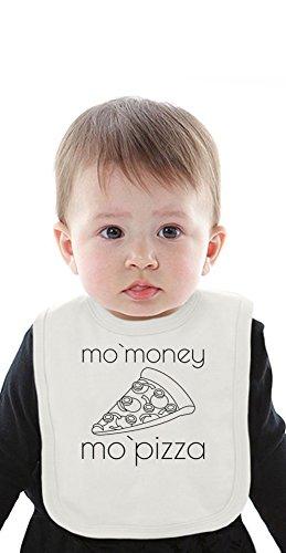 Mo'Money Mo'Pizza Slogan Organic Bib With Ties Medium Mo Tie