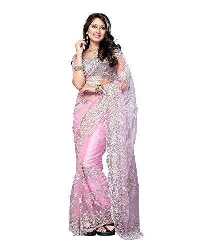 Muta Fashions Net Saree (Muta306_Pink)