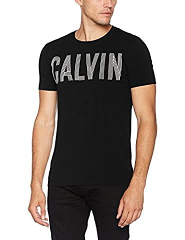 Calvin Klein Tyrus Slimfit Cn Tee, Pull sans Manche Homme, Noir (Ck Black), Large