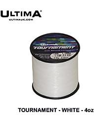 Ultima Unisex E5945torneo Super fuerte Ultra rígida mar pesca línea, Solid Blanco, 0,35mm-16.0LB