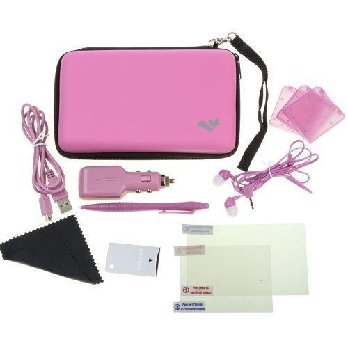 n-1 Travel Pack / Tasche, Etui, Displayschutzfolie, Kfz-Ladegerät: Rosa (Nintendo 3DS XL) (Rosa-ladegeräte)