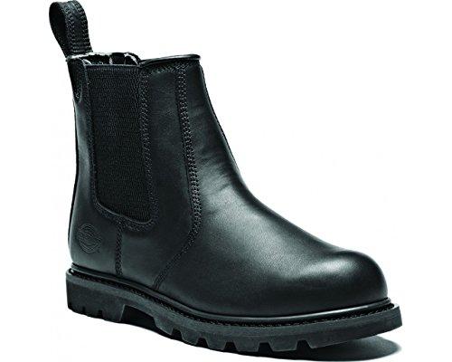 Safety Dealer Boot Dickies Fife in pelle, con punta in acciaio uomo FD9214 da lavoro Black