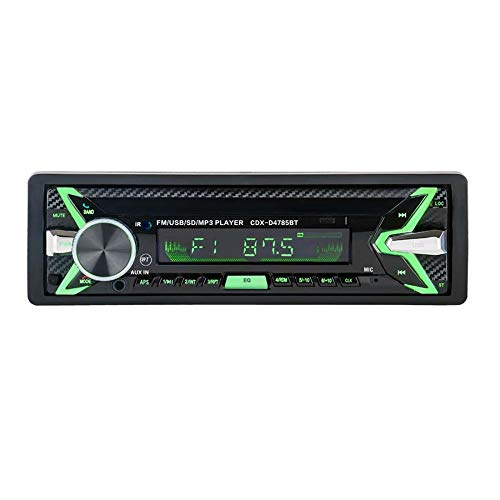 SPFCAR Bluetooth abnehmbare abnehmbare Panel Autoradio Bluetooth-Autoradio Auto FM RDS Stereo-Audio-Player USB SD ISO 7 Farben Beleuchtung Hardwire-panel