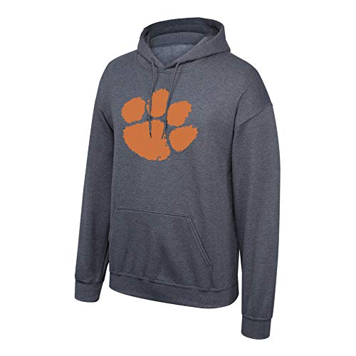 eLITe Fan Shop NCAA Men's Clemson Tigers Hoodie Sweatshirt Dark Heather Icon Clemson Tigers Dark Heather Large
