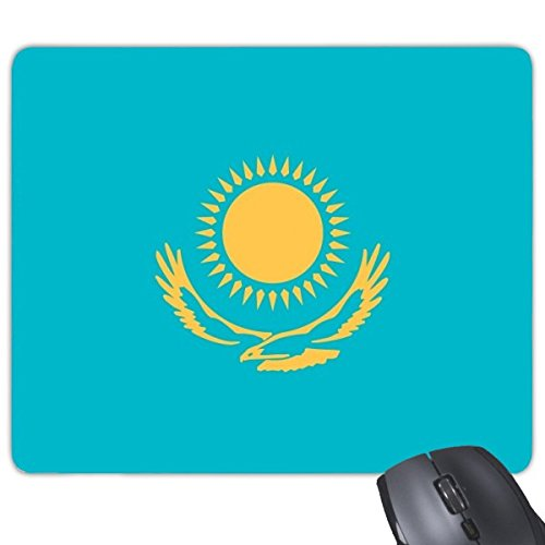DIYthinker Kasachstan Nationalflagge Asien Land Symbol Mark Muster Rechteck Griffige Gummi Mousepad Spiel-Mausunterlage