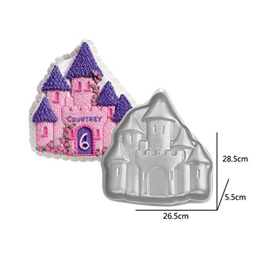 Morran Schimmel Burg Blechbacken Form-Schloss-Kuchen-Dekorations-Aluminium Backformen-Backblech-Backen Kuchenform Ofenform