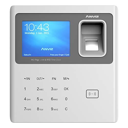 Anviz W1-ID Rilevazione Presenze con Lettore Biometrico, RFID e Codice Pin, Grigio