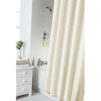 Spectrum 180 X Cm Shower Curtain And Rings Set Cream