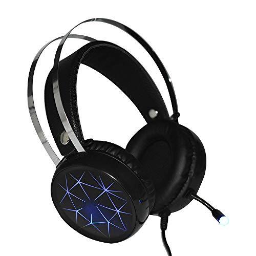 SB Gaming Headset für PC / PS4 / Xbox One, Noise Cancelling Over-Ear Kopfhörer mit Mikrofon schwarz ()