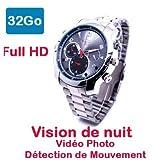 Reloj espía con cámara Full HD 1920 x 1080 memoria 32 GB detección de movimiento visión nocturna...