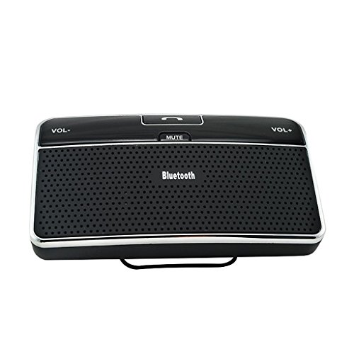 QIHANGCHEPIN Bluetooth Auto 4,0 EDR Auto Lautsprecher Sonnenblende Freisprecheinrichtung Auto Musik Empfänger Auto Bluetooth Ladegerät (Schwarz) (Boss-bluetooth-empfänger)