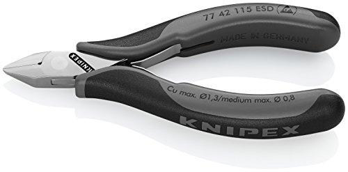 Knipex 77 42 115 ESD Elektronik-Seitenschneider (mit Mehrkomponenten-Hüllen, 115 mm)