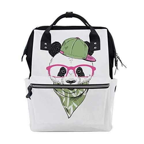 Brille Panda Nette Lustige Große Kapazität Wickeltaschen Mama Rucksack Multi Funktionen Windel Pflege Tasche Tote Handtasche Für Kinder Babypflege Reise Täglichen Frauen