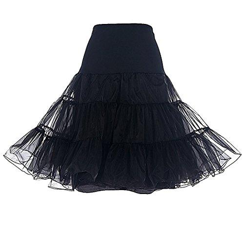 Petticoat Kleid Vintage 1950s Brautkleid Hochzeit Retro Reifrock blickdicht Ballkleid Unterrock für...