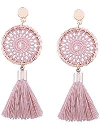 Pendientes colgantes de estilo bohemio vintage para mujer, de SetMei, de moda, con borlas