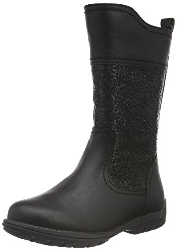 Geox Mädchen JR Crissy G Langschaft Stiefel, Schwarz (BLACKC9999), 33 EU