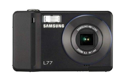 Samsung Digimax L77 Digitalkamera (7 Megapixel, 7-Fach Opt. Zoom, 6,4 cm (2,5 Zoll) Display) schwarz Samsung Digimax