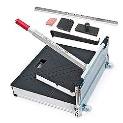 Schnittbreite 630mm - Der Bautec PROFI Laminatschneider - Parkettschneider - Vinylschneider inkl. 2 Klingen, Rollen und Teleskophebel und 18teiligem Verlege Set.