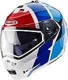 Caberg Duke II Impact Weib/Blau/Roter Motorradhelm Grobe L