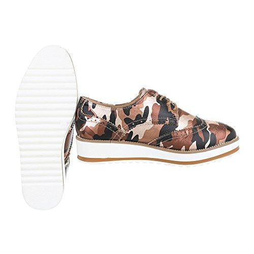 Sapatos Marrom Senhoras Design Sapatos Lace p De Oxford Multi Schnürer Baixos 6288 ital 5TBp4qpz