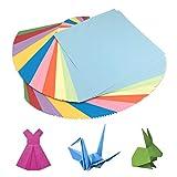 HEOCAKR Papel para Papiroflexia, 200 Hojas Papel de Origami 10 x 10 cm 10 Colores...