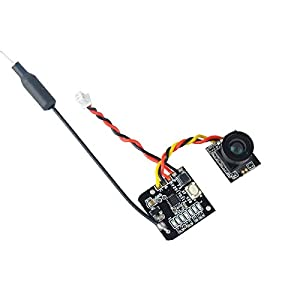 FPV Kamera Micro 700TVL CMOS Micro Cam 5.8G 48CH 25mW Transmitter Umschaltbares Raceband 10dBi 2.9-5.5V PAL für FPV Drone wie Blade Inductrix von