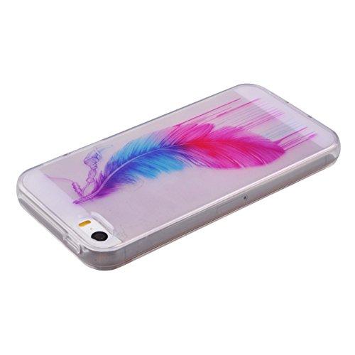 Voguecase® für Apple iPhone 5C, Schutzhülle / Case / Cover / Hülle / TPU Gel Skin (NEW YORK) + Gratis Universal Eingabestift Bunte Feder 04