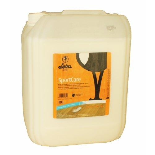 Loba Lobacare SportCare, 10 Liter - rutschhemmendes Pflegemittel (Parkett Desinfektionsmittel)