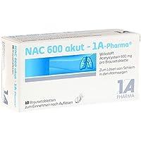 Preisvergleich für NAC akut 1A-Pharma Brausetabletten, 10 St.