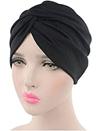 662af853808 Lishy Women Soft Cotton Beanie Cancer Chemo Hat Scarf Turban Head Wrap  Sleep Cap- 11
