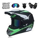 MRDEAR Adulte Casque Motocross, Casque VTT Integral Set avec...