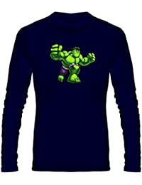 T Shirt - Full Sleeve Round Neck Hulk Graphics Printed 100% Cotton T Shirt - Kid Hulk Graphics Print T Shirt -...