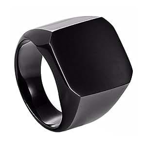 sorellaz black stainless steel ring for men amazonin