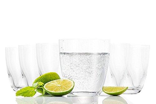 Tivoli Pasabahce Aqua Vasos de Agua / 285 ML/Conjunto de 6 / Gafas de